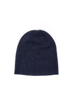 Paychi Guh | Slouchy Beanie, Heather Navy, 100% Cashmere