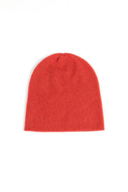 Paychi Guh | Slouchy Beanie, Persimmon, 100% Cashmere