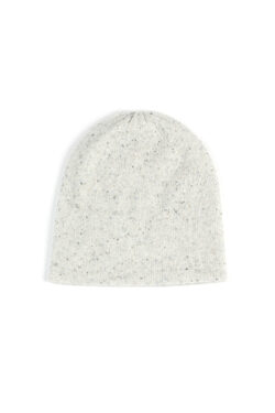 Paychi Guh | Slouchy Beanie, Snow Speckle, 100% Cashmere