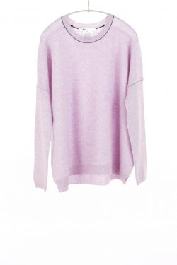 Paychi Guh | Textured Crew, Lavender, 100% Cashmere
