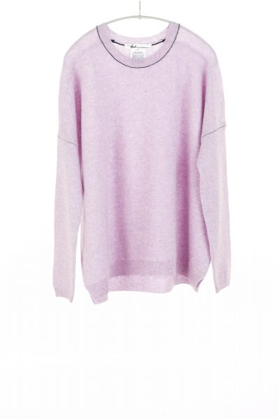 Paychi Guh | Textured Crew, Lavender, 100% Cashmere