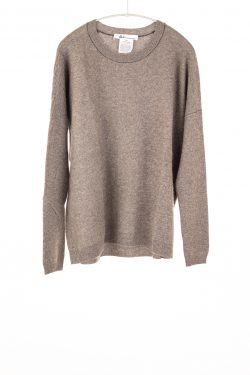 Paychi Guh | Textured Crew, Otter, 100% Cashmere