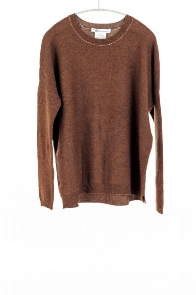 Paychi Guh | Textured Crew, Spice, 100% Cashmere