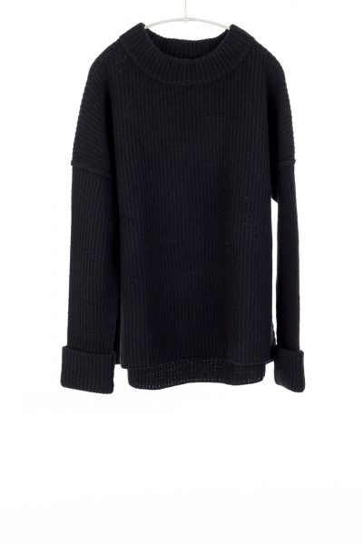 Paychi Guh | Relaxed Pullover, Black, 100% Cashmere
