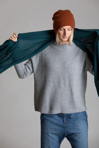 Paychi Guh | Relaxed Pullover, Flannel, 100% Cashmere