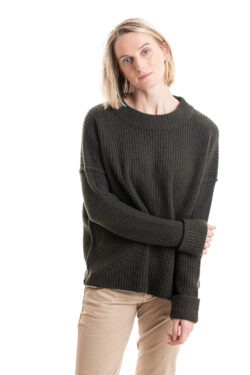 Paychi Guh | Relaxed Pullover, Military, 100% Cashmere