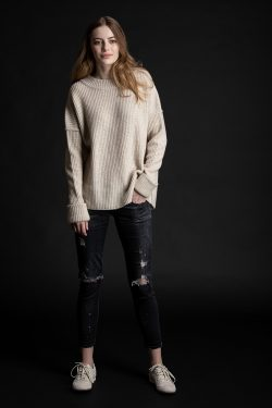 Paychi Guh | Relaxed Pullover, Oatmeal, 100% Cashmere