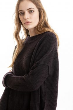 Paychi Guh | Relaxed Pullover, Plum, 100% Cashmere