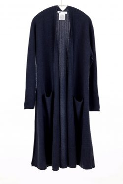 Paychi Guh | Swing Duster, Heather Navy, 100% Cashmere