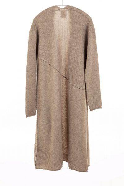 Paychi Guh | Swing Duster, Toast, 100% Cashmere