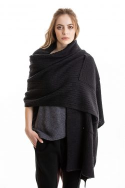 Paychi Guh | Dreamy Shawl, Black, 100% Dreamy Cashmere