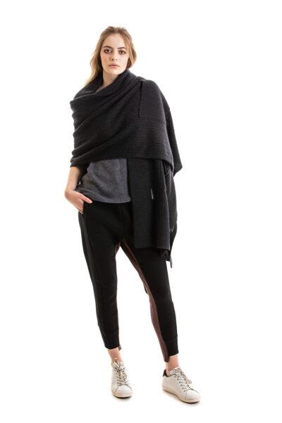 Paychi Guh | Dreamy Shawl, Black, 100% Dreamy Cashmere