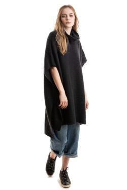 Paychi Guh | Dreamy Poncho, Black, 100% Dreamy Cashmere