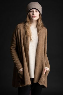 Paychi Guh | Dreamy Cardigan, Walnut, 100% Dreamy Cashmere