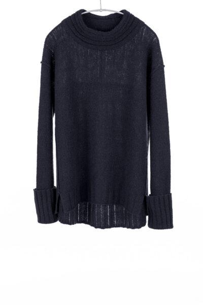Paychi Guh | Dreamy Mock, Black, 100% Dreamy Cashmere