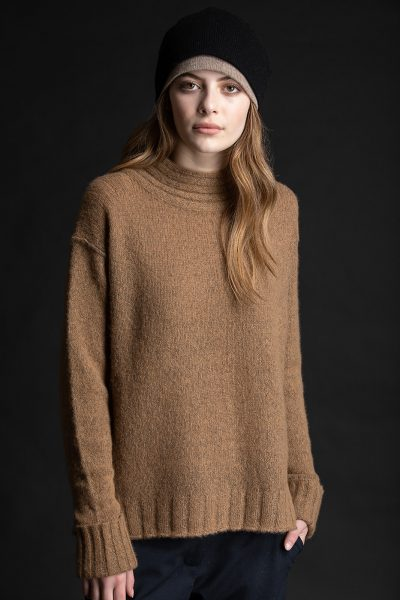 Paychi Guh | Dreamy Mock, Walnut, 100% Dreamy Cashmere