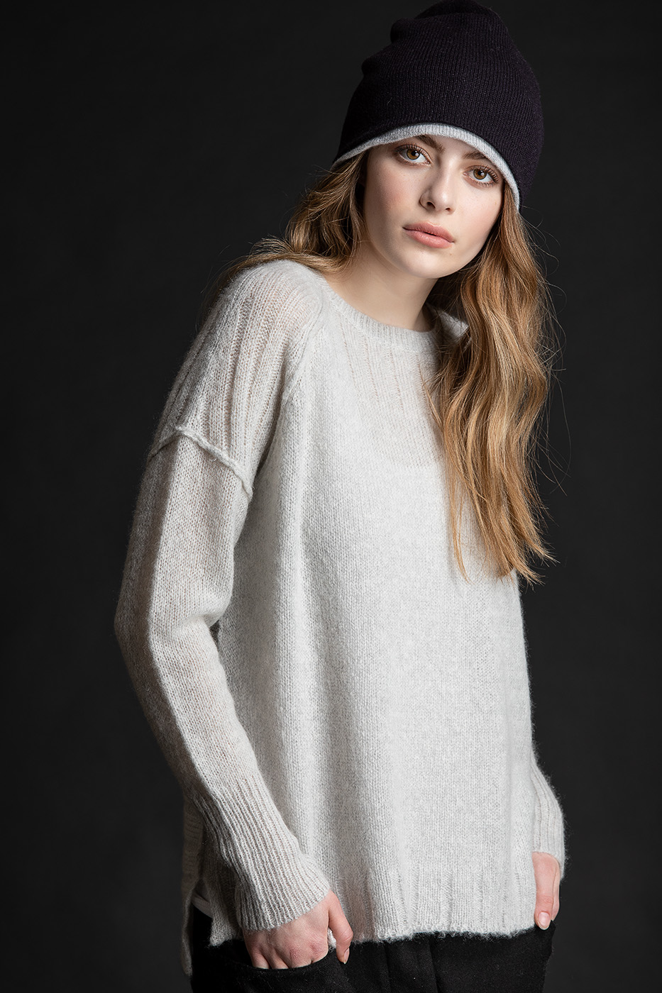 Paychi Guh | Dreamy Pullover, Mist, 100% Dreamy Cashmere