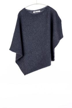 Paychi Guh | Asymmetrical Popover, Indigo, Cashmere Silk