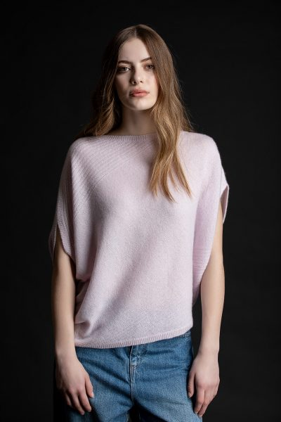 Paychi Guh | Asymmetrical Popover, Lilac, Cashmere Silk