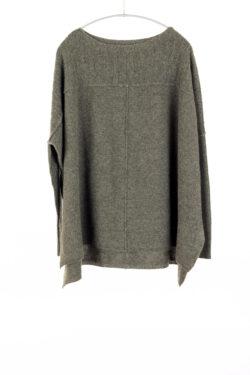 Paychi Guh | Slim Sleeve Poncho, Army, 100% Cashmere