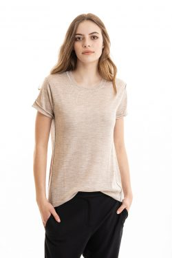 Paychi Guh | Baby Tee, Barley, 100% Worsted Mongolian Cashmere