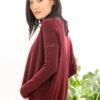 Paychi Guh | Textured Crew, Shiraz, 100% Cashmere