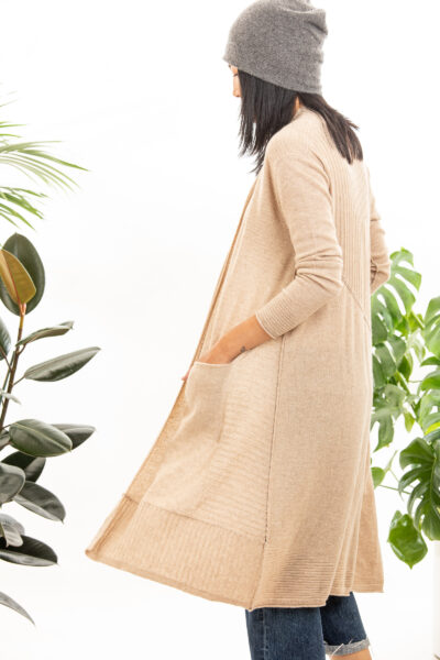 Paychi Guh | Swing Duster, Wheat, 100% Cashmere