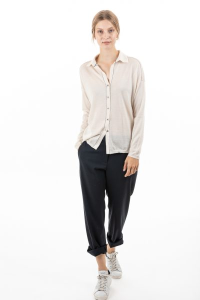 Paychi Guh | Shirt, Cheesecake, 100% Superfine Worsted Mongolian Cashmere
