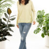 Paychi Guh | V-Neck Pullover, Lime, 100% Refined Cashmere