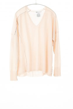 Paychi Guh | V-Neck Pullover, Nude, 100% Refined Cashmere