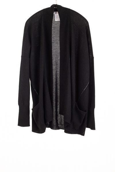 Paychi Guh | Open Cardigan, Black, 100% Refined Cashmere