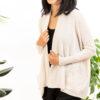 Paychi Guh | Open Cardigan, Cream, 100% Refined Cashmere