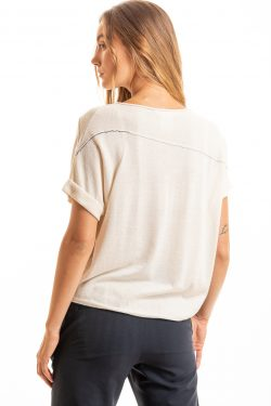 Paychi Guh   Cuffed Pullover, Cheesecake, 100% Worsted Mongolian Cashmere