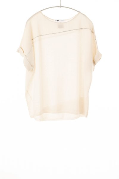 Paychi Guh | Cuffed Pullover, Cheesecake, 100% Worsted Mongolian Cashmere