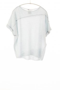 Paychi Guh   Cuffed Pullover, Sky, 100% Worsted Mongolian Cashmere