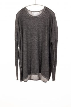 Paychi Guh | Two Tone Pullover, Charcoal/Dove Grey, 100% Worsted Mongolian Cashmere