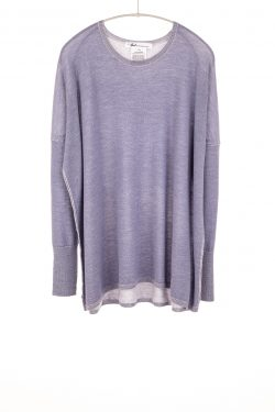 Paychi Guh   Two Tone Pullover, Purple Slate/Petal, 100% Worsted Mongolian Cashmere