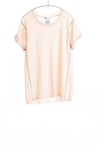 Paychi Guh | Baby Tee, Nude, 100% Worsted Mongolian Cashmere