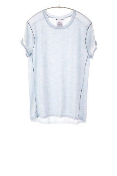 Paychi Guh   Baby Tee, Sky, 100% Worsted Mongolian Cashmere