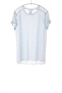 Paychi Guh | Baby Tee, Sky, 100% Worsted Mongolian Cashmere