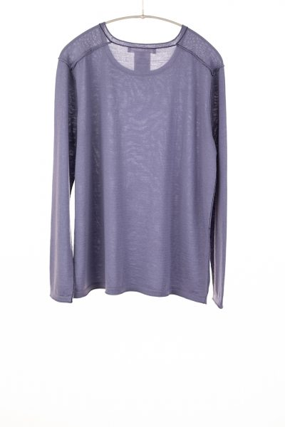 Paychi Guh | Easy Crew, Purple Slate, 100% Worsted Cashmere