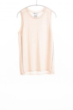 Paychi Guh | Crewneck Tank, Nude, 100% Worsted Mongolian Cashmere