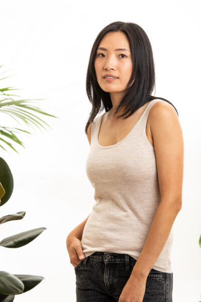 Paychi Guh | Tank, Barley, 100% Worsted Mongolian Cashmere