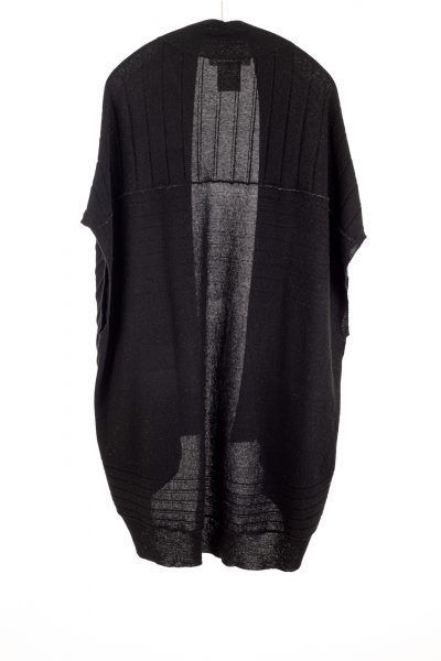 Paychi Guh | High-Low Vest, Black, 100% Refined Cashmere
