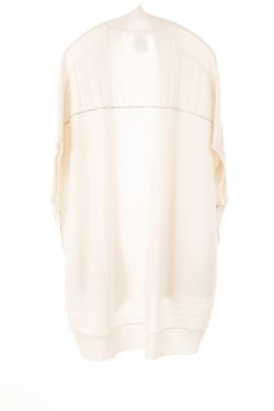 Paychi Guh | High-Low Vest, Cream, 100% Refined Cashmere