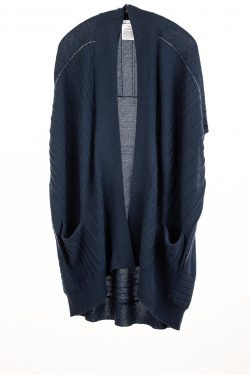 Paychi Guh | High-Low Vest, Midnight, 100% Refined Cashmere