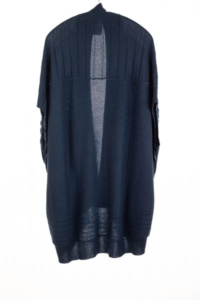 Paychi Guh   High-Low Vest, Midnight, 100% Refined Cashmere