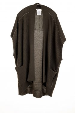 Paychi Guh   High-Low Vest, Olive, 100% Refined Cashmere