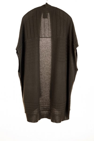 Paychi Guh | High-Low Vest, Olive, 100% Refined Cashmere