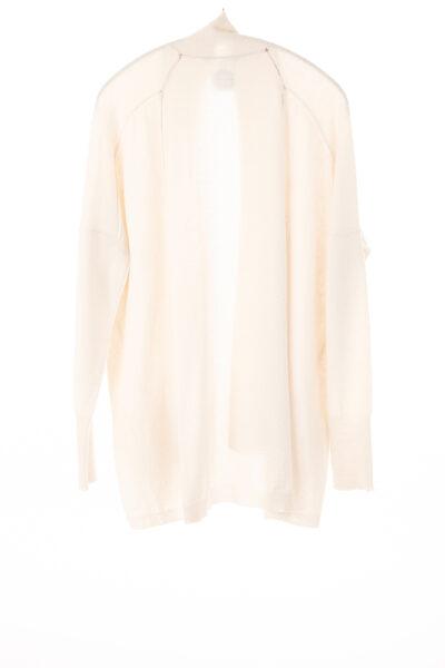 Paychi Guh   Open Cardigan, Cream, 100% Refined Cashmere